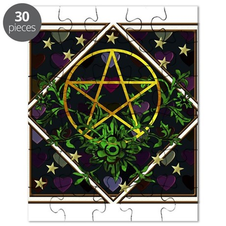 Wiccan Pentacle and Greens Puzzle