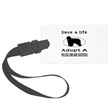 Adopt A Polish Lowland Sheepdog Dog Luggage Tag