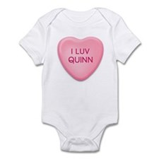 I Luv QUINN Candy Heart Infant Bodysuit