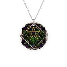 Wiccan Pentacle and Greens Necklace