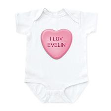 I Luv EVELIN Candy Heart Infant Bodysuit
