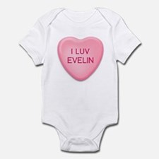 I Luv EVELIN Candy Heart Infant Bodysuit