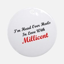 In Love with Millicent Ornament (Round)