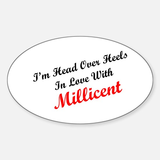 In Love with Millicent Oval Decal