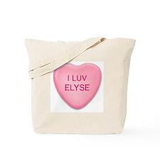 I Luv ELYSE Candy Heart Tote Bag