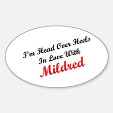 In Love with Mildred Oval Decal