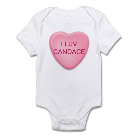 I Luv CANDACE Candy Heart Infant Bodysuit