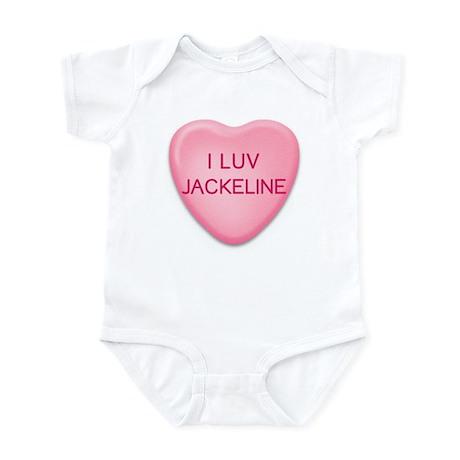 I Luv JACKELINE Candy Heart Infant Bodysuit
