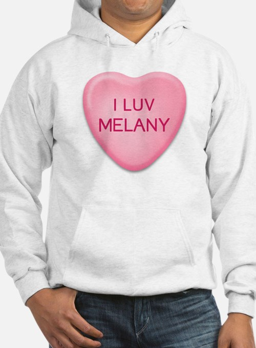 I Luv MELANY Candy Heart Hoodie