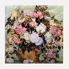 Van Gogh - Still Life Vase with Roses Tile Coaster