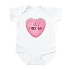 I Luv TRISTEN Candy Heart Infant Bodysuit