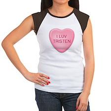 I Luv TRISTEN Candy Heart Women's Cap Sleeve T-Shi