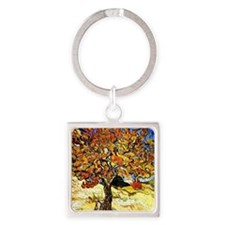 Cute Gogh Square Keychain