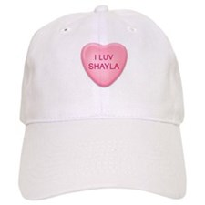 I Luv SHAYLA Candy Heart Baseball Cap