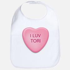 I Luv TORI Candy Heart Bib