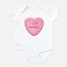 I Luv HAZEL Candy Heart Infant Bodysuit