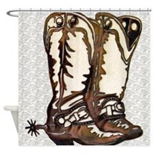 Boots and Spurs Shower Curtain
