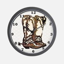 Boots and Spurs Wall Clock
