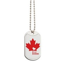 I Love Canada Dog Tags