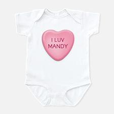 I Luv MANDY Candy Heart Infant Bodysuit
