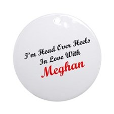 In Love with Meghan Ornament (Round)