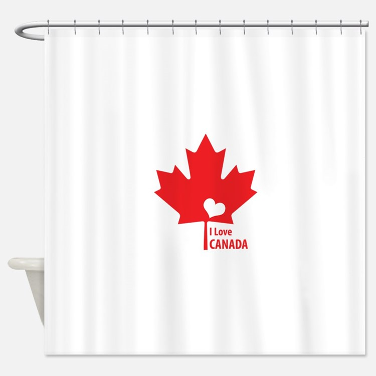 I Love Canada Shower Curtains