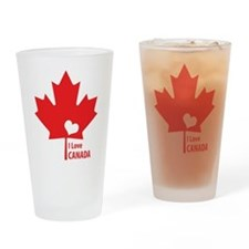 I Love Canada Drinking Glass