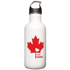 I Love Canada Water Bottle