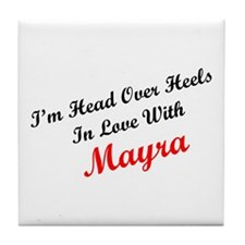 In Love with Mayra Tile Coaster