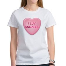 I Luv ANNABEL Candy Heart Tee