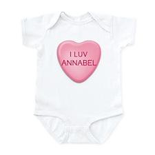 I Luv ANNABEL Candy Heart Infant Bodysuit