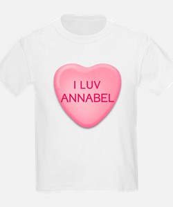 I Luv ANNABEL Candy Heart Kids T-Shirt