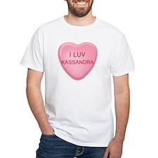 I Luv KASSANDRA Candy Heart Shirt