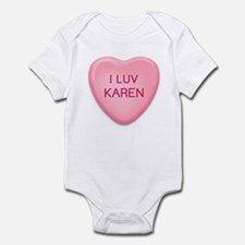 I Luv KAREN Candy Heart Infant Bodysuit