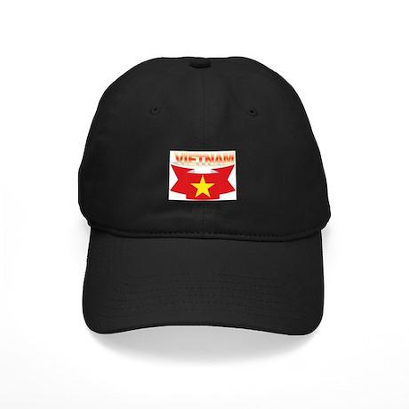 Vietnamese flag ribbon Black Cap