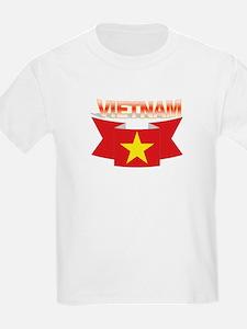 Vietnamese flag ribbon Kids T-Shirt