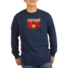 Vietnamese flag ribbon T