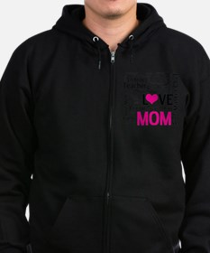 Mom is Love - Birthday, Mothers  Zip Hoodie
