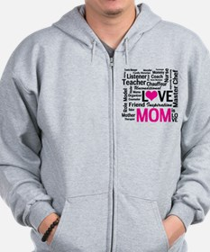Mom is Love - Birthday, Mothers Day Zip Hoodie