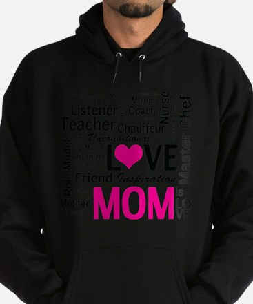 Mom is Love - Birthday, Mothers Day Hoodie (dark)
