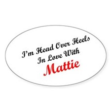 In Love with Mattie Oval Decal