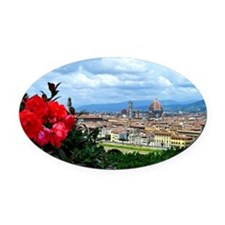 Florence, Italy beautiful landscap Oval Car Magnet