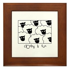 Dolly the Sheep Framed Tile