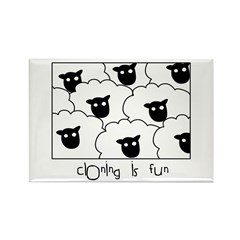 Dolly the Sheep Rectangle Magnet