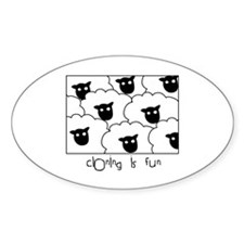 Dolly the Sheep Oval Decal