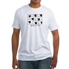 Dolly the Sheep Fitted T-Shirt