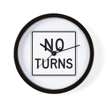 No Turns - USA Wall Clock