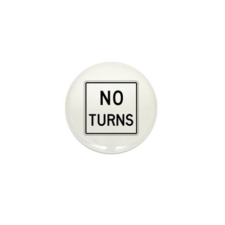 No Turns - USA Mini Button (100 pack)