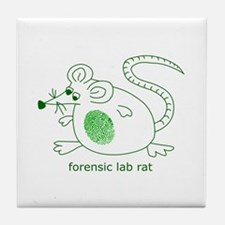 Forensic Lab Rat Tile Coaster