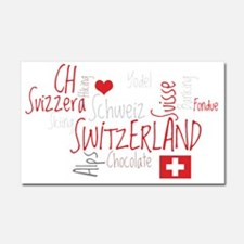 I Love Switzerland - For Dark C Car Magnet 20 x 12